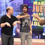 Hugo Silva y Javier Cámara en 'El hormiguero' promocionando 'Los amantes pasajeros'