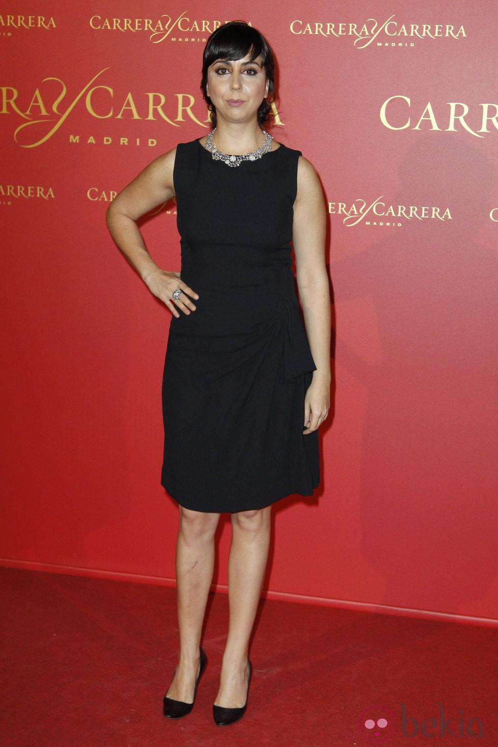 Carmen Ruiz en la entrega del premio 'Maja de los Goya 2013'