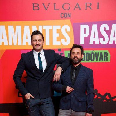 Asier Etxeandía en el estreno de 'Los amantes pasajeros'