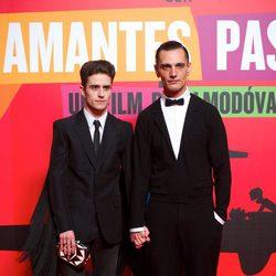 Pelayo Díaz y David Delfín en el estreno de 'Los amantes pasajeros'