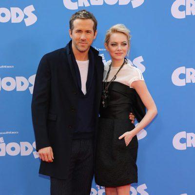 Ryan Reynolds y Emma Stone en el estreno de 'Los Croods' en Nueva York