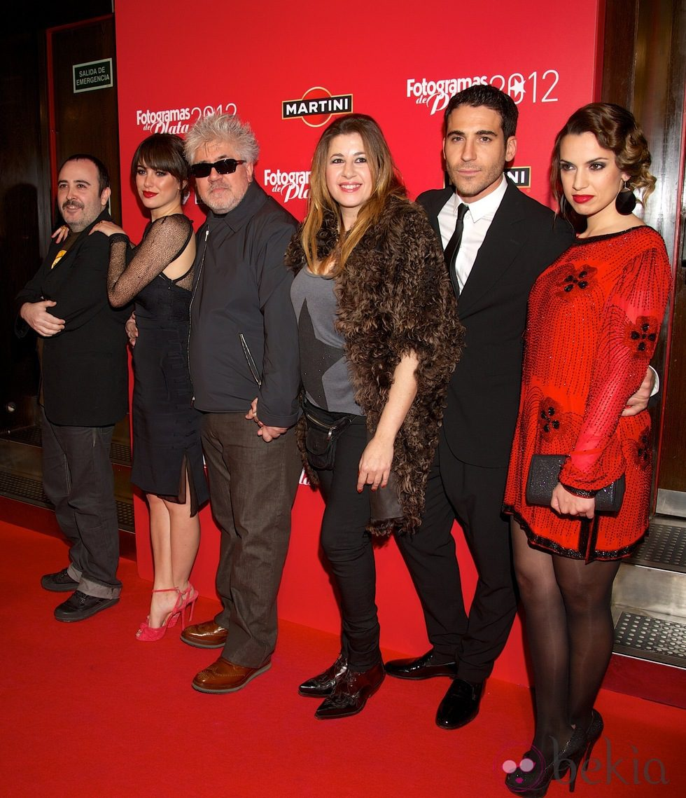 Carlos Areces, Blanca Suárez, Pedro Almodóvar, Pepa Charro, Miguel Ángel Silvestre y Laya Matí en los premios Fotogramas de Plata 2012