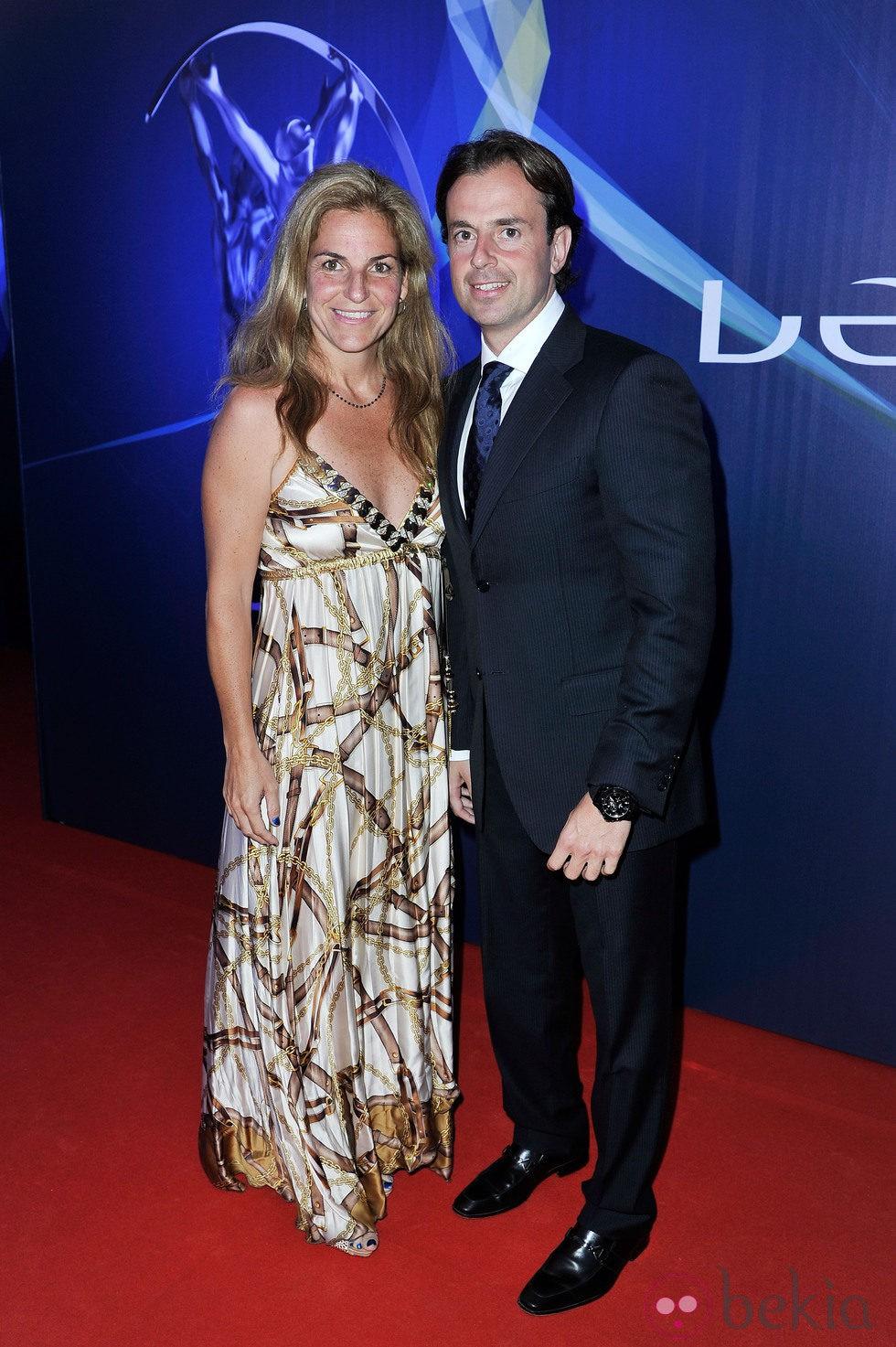 Arantxa Sánchez Vicario y su marido José Santacana en los Premios
