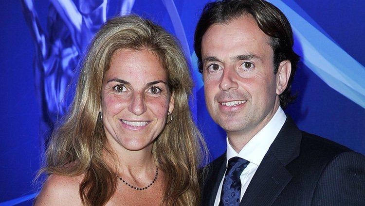 Arantxa Sánchez Vicario y su marido José Santacana en los Premios Laureus 2013