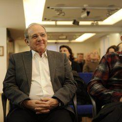 Emilio Gutiérrez Caba en la presentación de la exposición de dibujos de José Luis López Vázquez