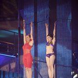 Angy y Miriam Díaz Aroca saltando juntas en 'Splash!, famosos al agua'