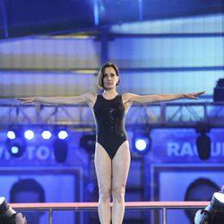 Natalia Millán preparándose para saltar en '¡Mira quién salta!'
