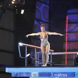 Beatriz Trapote preparándose para saltar en '¡Mira quién salta!'