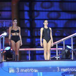 Verónica Hidalgo y Natalia Millán preparándose para saltar juntas en '¡Mira quién salta!'