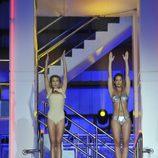 Mar Segura y Tamara Gorro preparándose para saltar juntas en '¡Mira quién salta!'