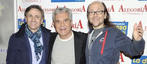 José Mota, Andrés Pajares y Santiago Segura en un acto solidario en favor de la infancia