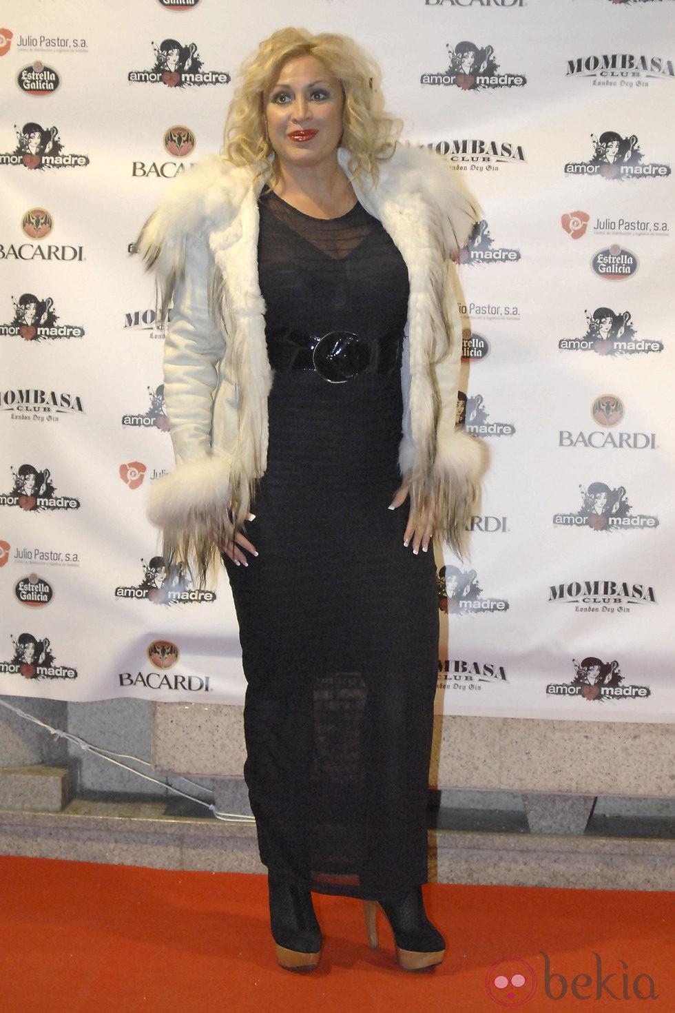 Raquel Mosquera en una fiesta tras el estreno de '¡Mira quién salta!'