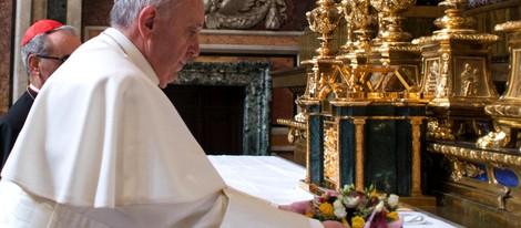 Papa Francisco I en la basílica de Santa María la Mayor