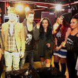 Union J y Little Mix antes de su reto del Red Nose Day 2013