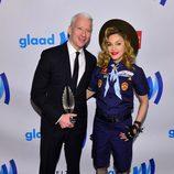 Madonna y Anderson Cooper en la 24 edición anual de los GLAAD Media Awards