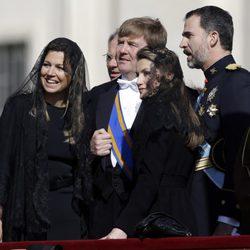 Los Príncipes Felipe y Letizia con Guillermo y Máxima de Holanda en la entronización del Papa Francisco I