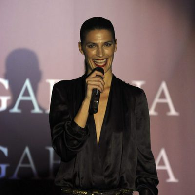Laura Sánchez presenta un desfile de moda flamenca en Madrid