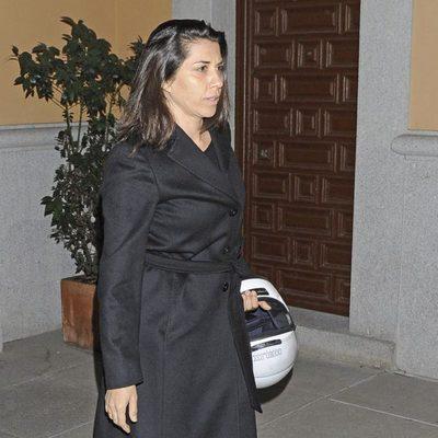 Alicia Borrachero en la misa funeral en memoria de Pepe Sancho