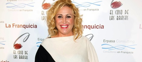 Raquel Mosquera en la inauguración de 'El coso de las brasas'