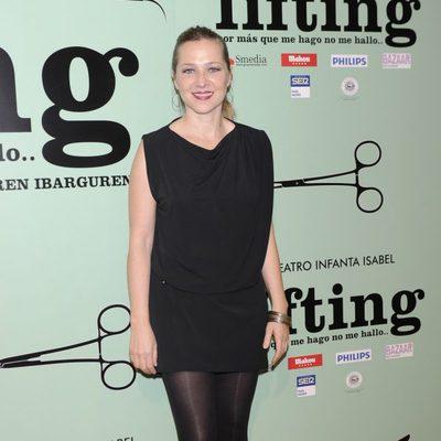 Pilar Castro en el estreno de la obra de teatro 'Lifting'