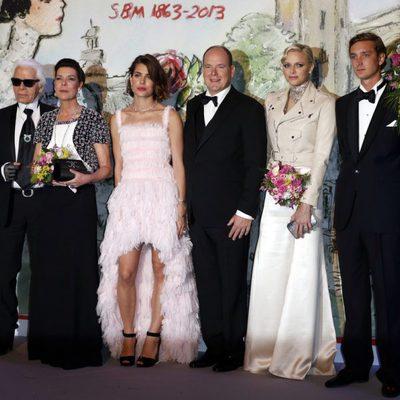 Karl Lagerfeld y la Familia Real de Mónaco en el Baile de la Rosa 2013