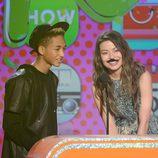 Jaden Smith y Miranda Cosgrove en los Nickelodeon's Kids' Choice Awards 2013