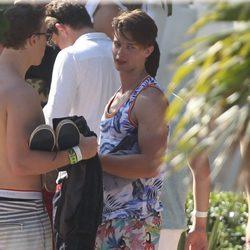 Patrick Schwarzenegger de vacaciones en Miami