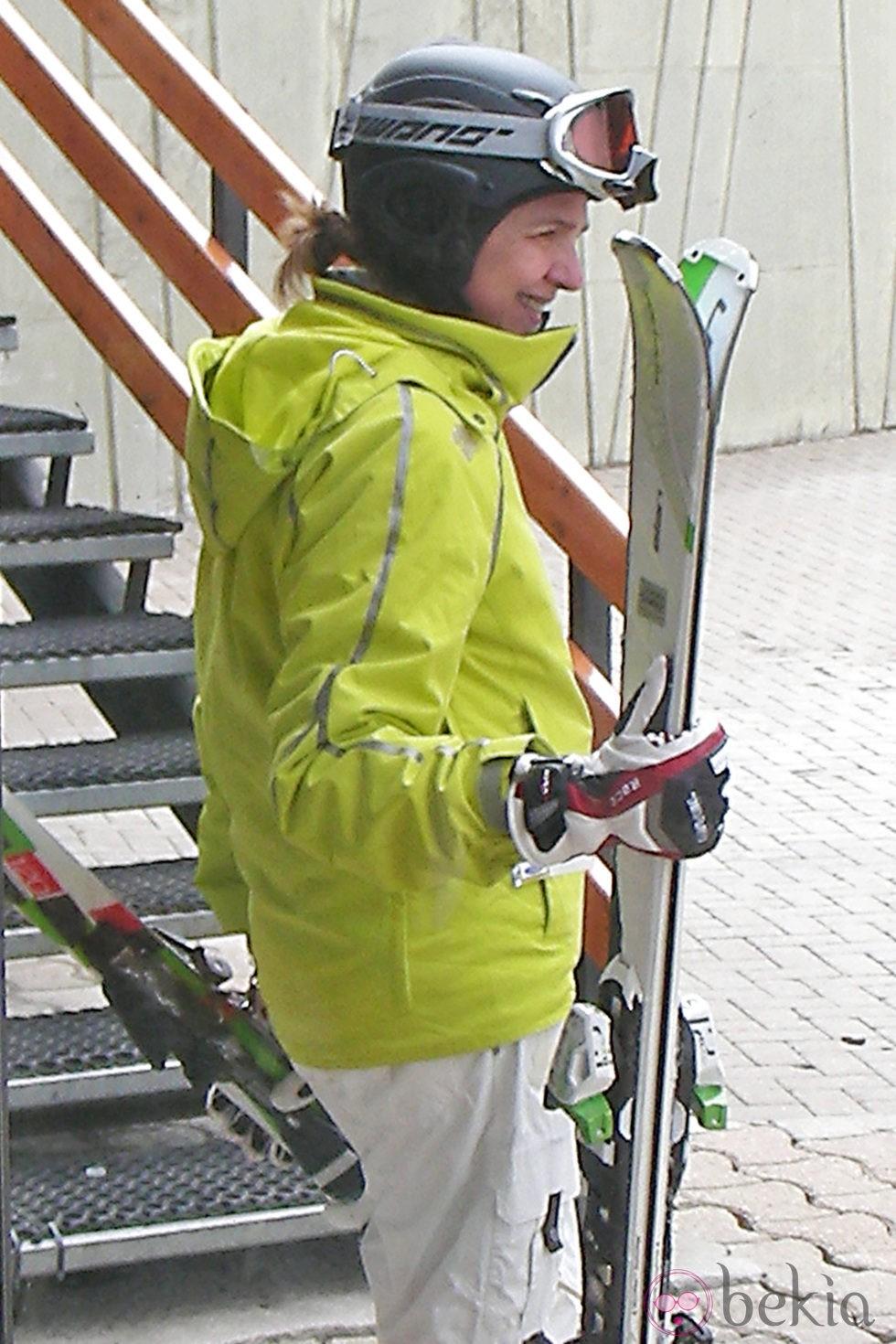 La Infanta Cristina esquiando en Baqueira Beret en Semana Santa 2013