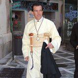 Antonio Banderas vestido de cofrade en la Semana Santa de Málaga 2013