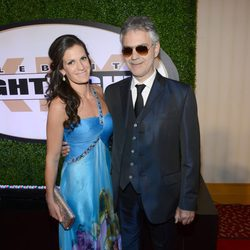 Andrea Bocelli y Veronica Berti en la Celebrity Fight Night 2013