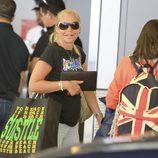 Belén Esteban en el aeropuerto de Miami tras sus vacaciones de Semana Santa