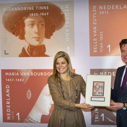 Máxima de Holanda en un acto oficial en la Universidad de Amsterdam