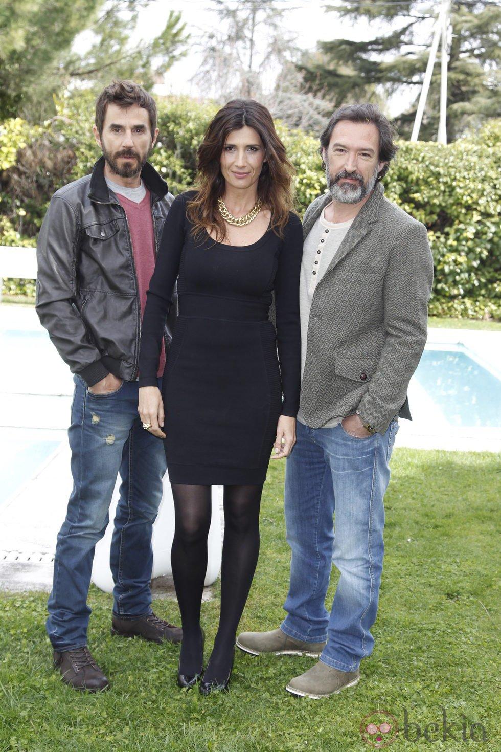 Santi Millán, Elia Galera y Ginés García Millán en la presentación de la segunda temporada de 'Frágiles'