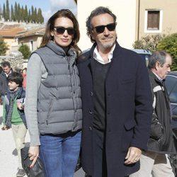 Nieves Álvarez y Marco Severini en la corrida de primavera de Brihuega