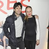 Esmeralda Moya y Carlos García en el estreno de 'Tres'