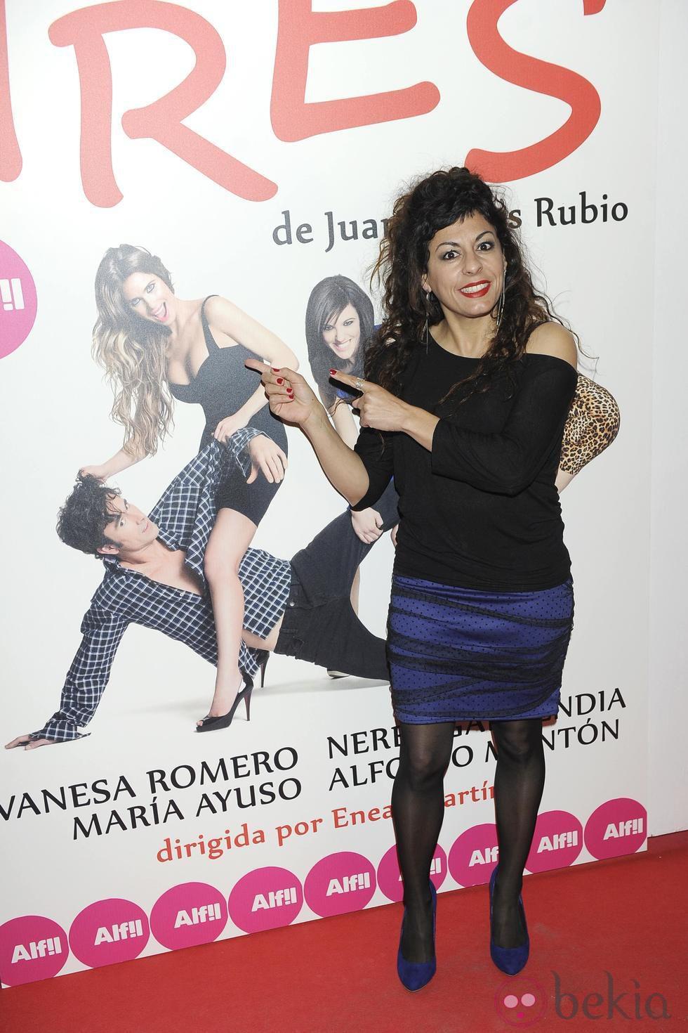 Cristina Medina en el estreno de 'Tres'