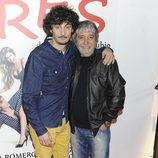 Antonio Pagudo y Ricardo Arroyo en el estreno de 'Tres'