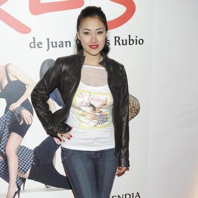 Giselle Calderón en el estreno de 'Tres'