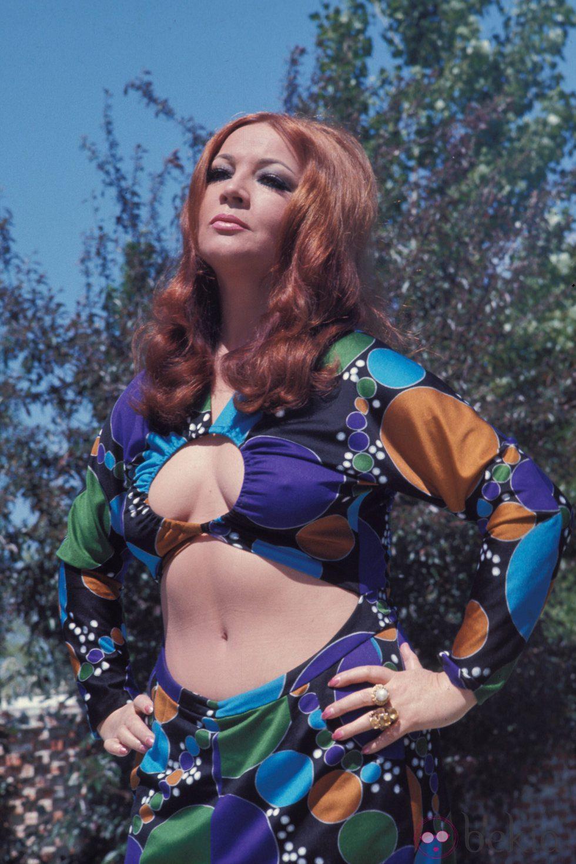 Sara Montiel durante un posado en la década de los 60