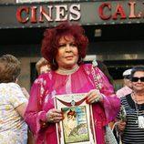 Sara Montiel en el reestreno de 'La violetera'