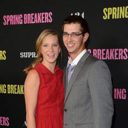 Heather Morris y Taylor Hubbell en el estreno de 'Spring Breakers'