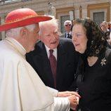 Margaret Thatcher con Benedicto XVI
