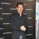Diego Simeone en la inauguración de una tienda de Armani en Madrid