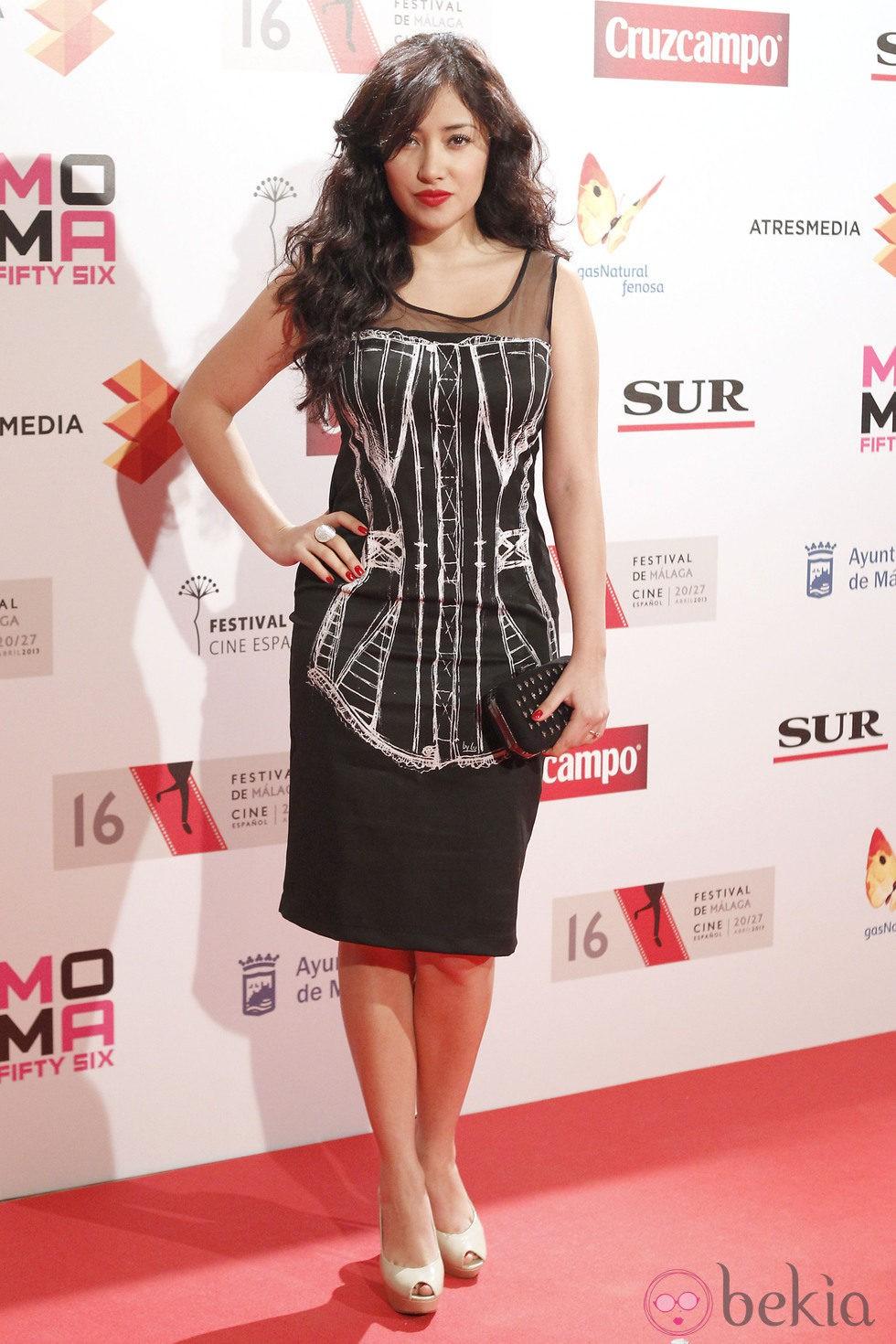 Giselle Calderón en la presentación del Festival de Málaga 2013