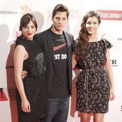 Andrea Duro, Joel Bosqued y Sandra Blázquez en la presentación del Festival de Málaga 2013