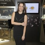 Cecilia Gómez en la presentación de la colección de joyas 'Diamonds'