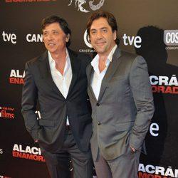 Carlos y Javier Bardem en el estreno de 'Alacrán enamorado' en Madrid