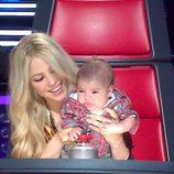 Milan Piqué hace pucheros junto a Shakira en 'The Voice'