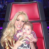 Shakira con su hijo Milan en 'The Voice'