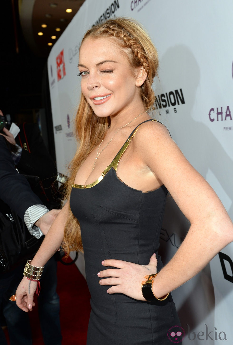 Lindsay Lohan en la premiere de 'Scary Movie 5'